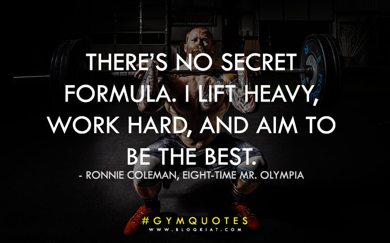 Inspirational gym quotes for bodybuilding.